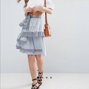 NWT ASOS striped skirt